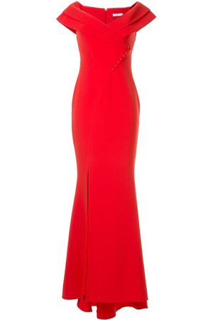 Safiyaa London Madison off-the-shoulder gown