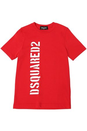 Dsquared2 Meisjes T-shirts - Logo Printed Cotton Jersey T-shirt