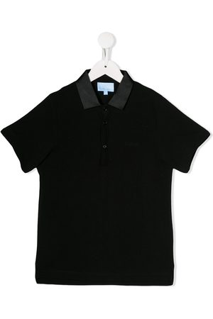 Lanvin Metallized collar polo shirt