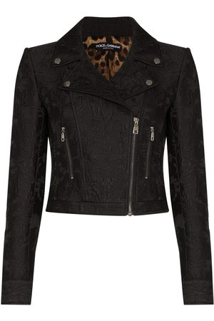 Dolce & Gabbana Jacquard printed biker jacket