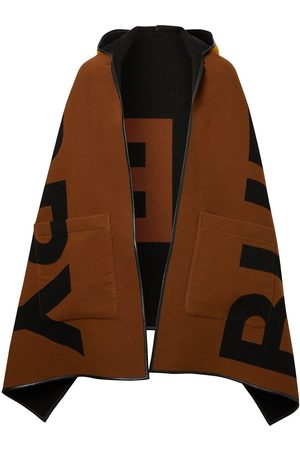 Burberry Reversible jacquard logo hooded cape