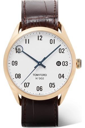 Tom Ford 002 40mm 18-karat Gold And Alligator Watch