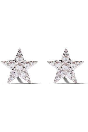 ANNOUSHKA 18kt white gold Love diamonds star studs