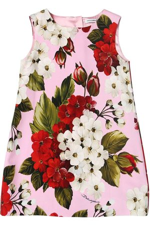 Dolce & Gabbana Geranium Print Cady Dress
