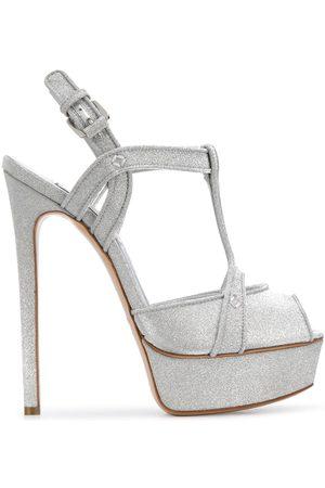 Casadei Sparkle detail wedge sandals