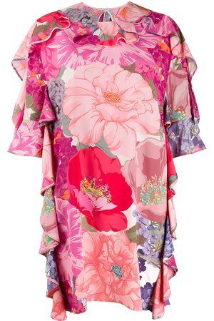 VALENTINO Floral print ruffled dress