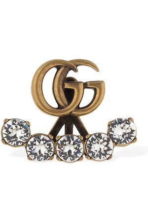 Gucci Dames Oorbellen - Gg Marmont Crystal Mono Earring