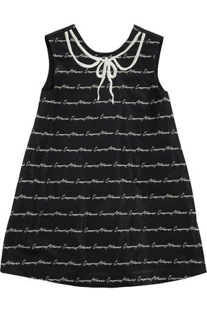 Emporio Armani Logo Jacquard Taffetà Party Dress