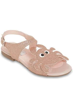Stella McCartney Faux Leather Sandals W/ Glitter Crab