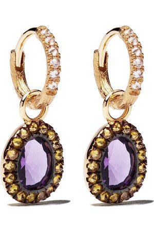 ANNOUSHKA 18kt gold diamond drop earrings