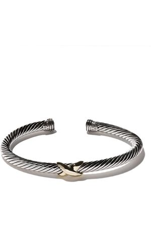 David Yurman 14kt yellow gold X silver cuff bracelet
