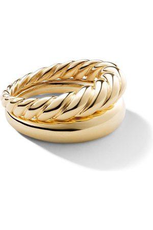 David Yurman 18kt yellow gold Pure Form stack rings