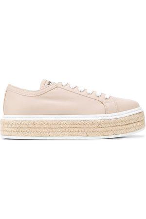 Prada Lace-up espadrille sneakers