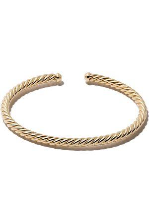 David Yurman 18kt yellow gold Cable Spira cuff bracelet
