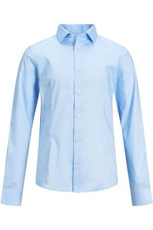 Jack & Jones Jongens Afgeronde Zoom Overhemd Heren Blauw