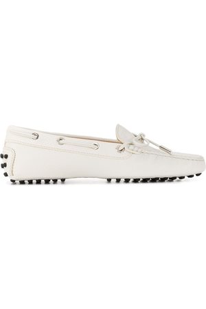 Tod's Eyelet detail flat loafers