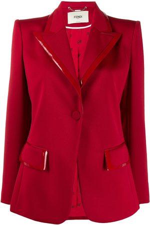 Fendi Patent detail structured blazer