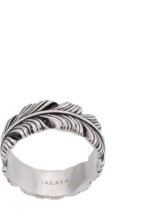 Nialaya Feather engraved ring