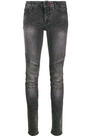 Philipp Plein Acid wash skinny jeggings