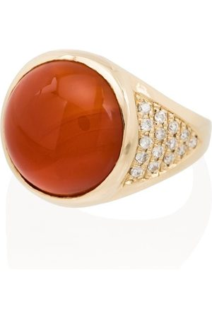 JACQUIE AICHE Dames Ringen - 14K rose gold carnelian diamond ring