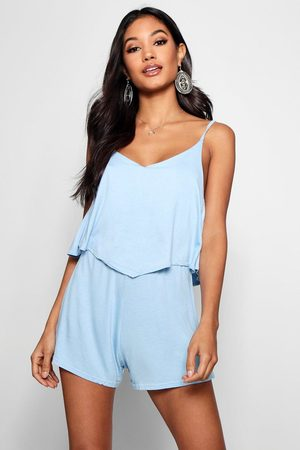 Boohoo Baby Rompertjes - Strappy Cami Overlay Romper