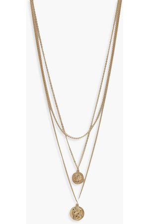 Boohoo Simple Coin Layered Necklace