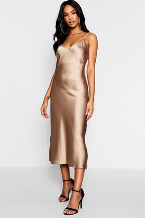 Boohoo Tall Satin Slip Dress