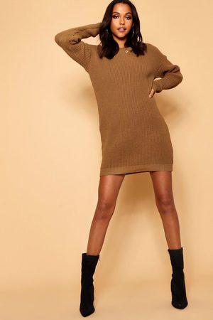 Boohoo Crew Neck sweater Dress
