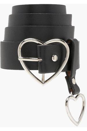 Boohoo Heart Buckle and Charm Detail Belt