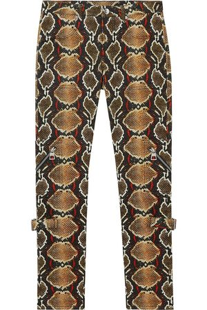 Burberry Skinny fit python print jeans