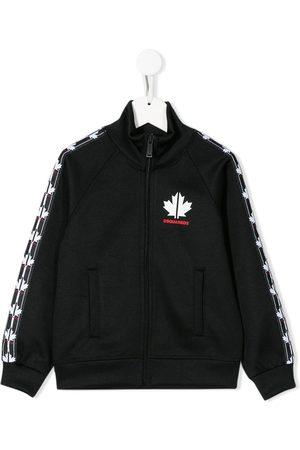 Dsquared2 Logo tape zip-up sweatshirt