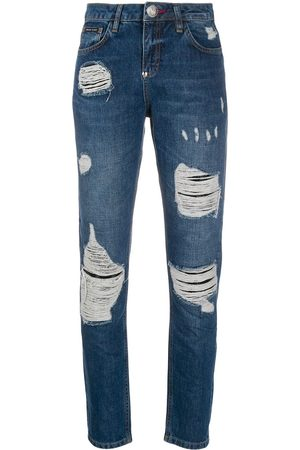 Philipp Plein Statement mid-rise slim jeans