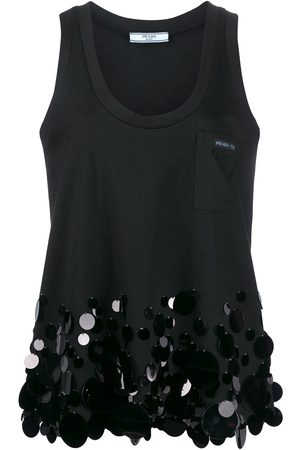 Prada Sequin detail tank top
