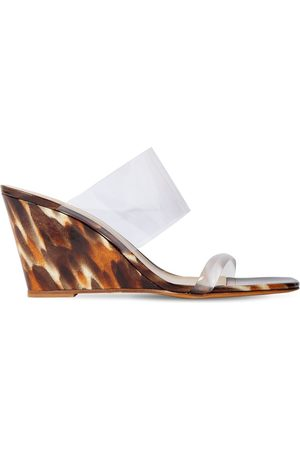 MARYAM NASSIR ZADEH 100mm Pvc Wedge Sandals