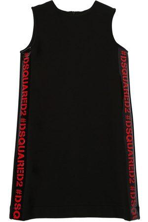 Dsquared2 Cotton Sweat Dress W/ Logo Bands
