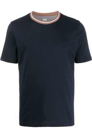 ELEVENTY Regular-fit contrasting-collar T-shirt