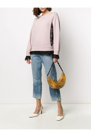 VALENTINO Lace-trimmed jumper