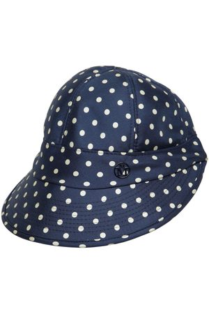 Le Mont St Michel Min Printed Silk Hat With Visor