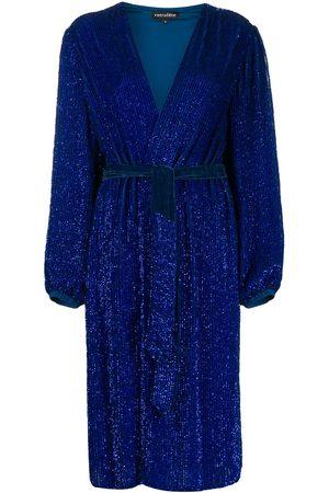 Retrofete Glitter wrap dress