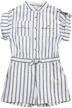 Chloé Striped Cotton Poplin Romper