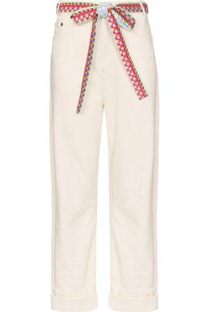 MIRA MIKATI Dames Bootcut - Woven belt wide-leg jeans