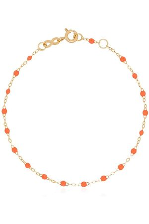 GIGI CLOZEAU 18kt yellow gold and orange beaded bracelet