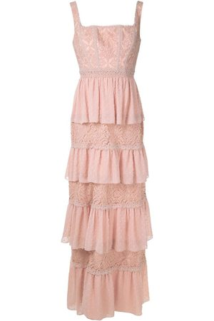 MARTHA MEDEIROS Tati lace panelled gown