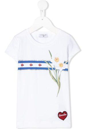 MONNALISA Rhinestone-embellished logo T-shirt