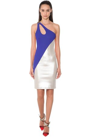 FAUSTO PUGLISI One Shoulder Stretch Jersey Dress