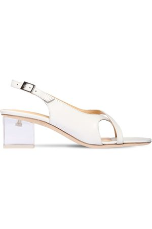 By Far 50mm Chris Leather Sling Back Sandals