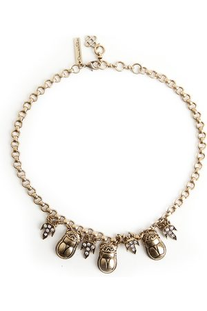 Oscar de la Renta Egyptian scarab necklace