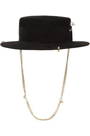 Ruslan Baginskiy Piercing Boater Felted Hat