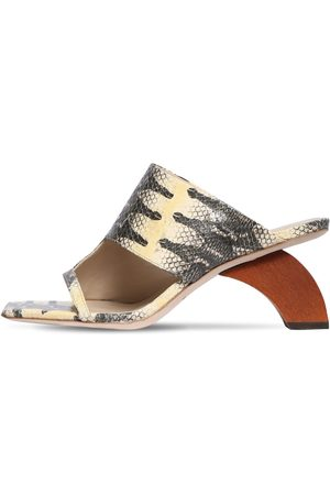 REJINA PYO 60mm Python Print Leather Sandals