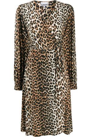 Ganni Leopard print midi dress